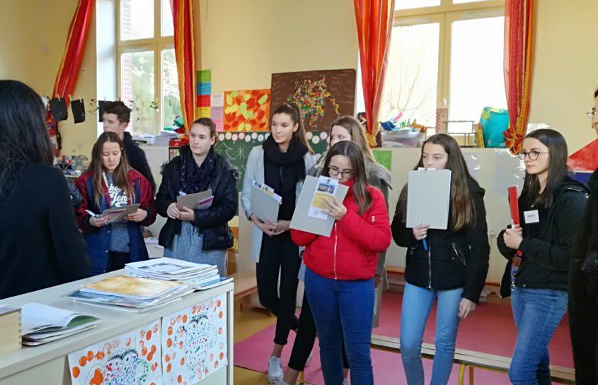 Visite d'élèves du lycée Marie Le Franc