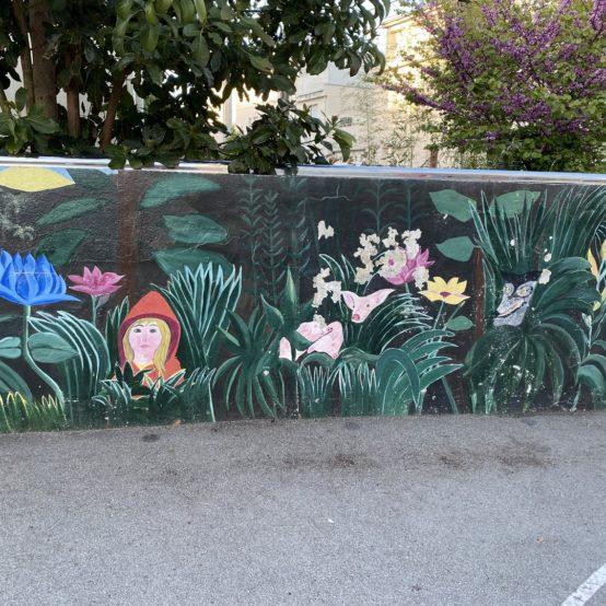 Restauration de la fresque